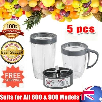 Magic Bullet Tall Cup/Lids/Extractor Blade Accessory Kit For Nutribullet Blender