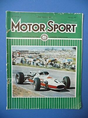 Motorsport Magazine February 1967 Vol XLIII No.2 F1