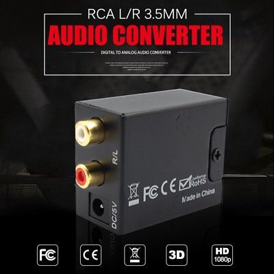 Digital Optical Coaxial Toslink Signal to Analog Converter Audio Adapter RCA AU