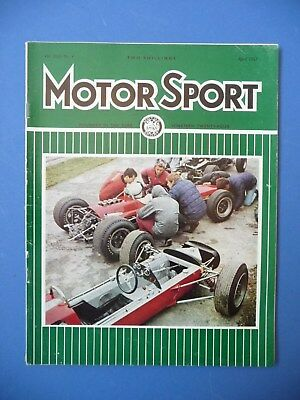Motorsport Magazine April 1967 Vol XLIII No.4 F1