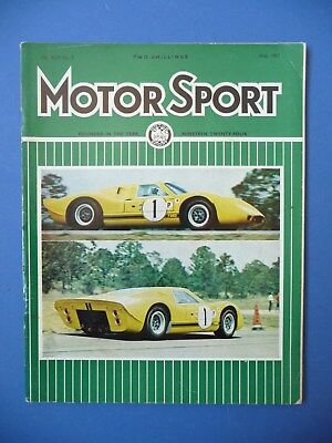 Motorsport Magazine May 1967 Vol XLIII No.5 F1