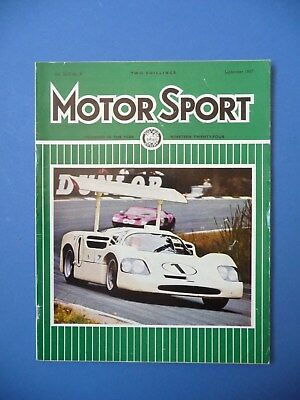 Motorsport Magazine September 1967 Vol XLIII No.9 F1
