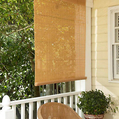 36 x 72 window 48 inch exterior roll up window blinds 36 72 patio roll up sun shade tan woodgrain
