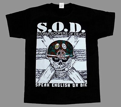 S.o.d. Stormtroopers Of Death Sod New Black Short/long Sleeve T-Shirt