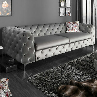 chesterfield sofa garnitur 3 2 1 sitzer samt luxus. Black Bedroom Furniture Sets. Home Design Ideas
