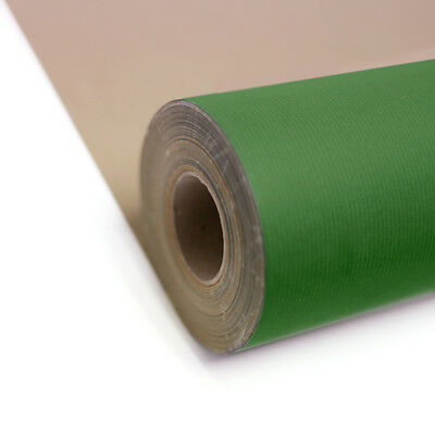 Green Kraft Roll Wrapping Paper 55gsm projects shops 200m x 550mm gift craft