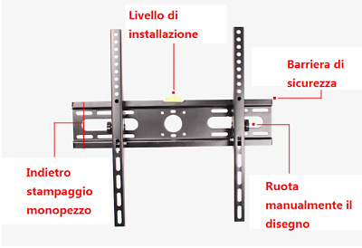 "SUPPORTO STAFFA PARETE MURO INCLINABILE TV LCD TFT LED 23-55 "" VESA max 400x400"