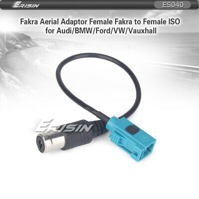 Female Fakra to Female ISO Radio Aerial Antenna Adapter Converter for Car stereo