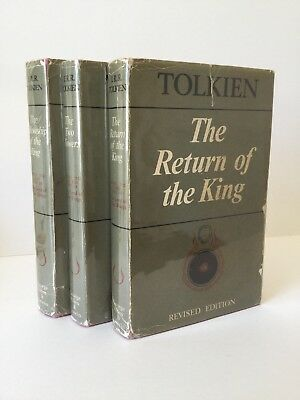 Fellowship of the Ring Return King Two Towers LOTR 2/2 3 Vol SET TOLKIEN 1967
