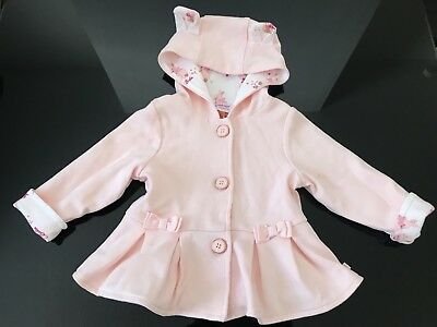 28a9a7c4b4ae Baker by Ted Baker - Baby girls  light pink pleated hem hooded jacket 3-