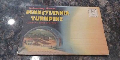 "1940-45 ""PENNSYLVANIA TURNPIKE"" (Was only 160 miles long) Folding Linen Postcard"