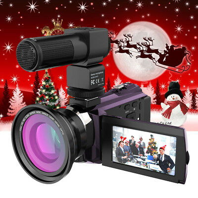 Andoer WiFi 4K 1080P 48MP 16X ZOOM Touchscreen Digital Videokamera Camcorder DV