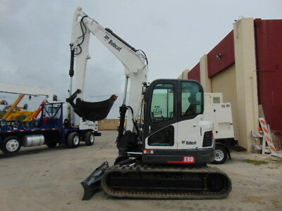 2011 Bobcat E80 Mini Midi Excavator  18,500 Lbs - 2 Speed - Enclosed A/c Cab