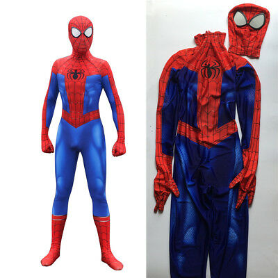 Spider-Man Into the Spider-Verse Peter Parker Cosplay Costume Spiderman Bodysuit