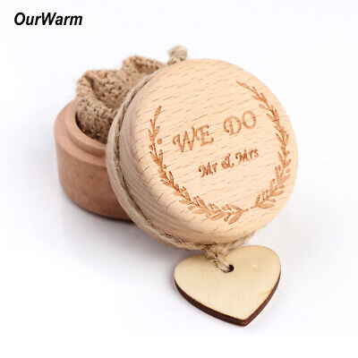 Wooden Ring Bearer Box Rustic Wedding Ring Box Pillow Holder + Heart Decor Gifts