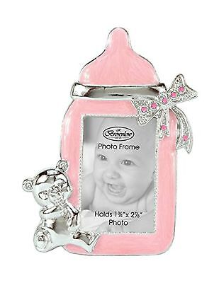 Brownlow Gifts Baby Girl Bottle Frame, Pink