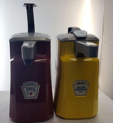 Heinz  Commercial  1.5 Gallon Dispensers, Asept Pair Mustard and Ketchup