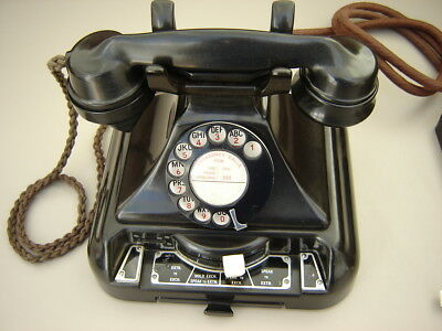 1940's GPO Bakelite Telephone 248 And Bell Set Number 44/C Working With Bell