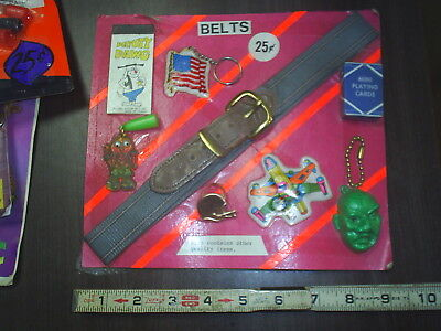 Vintage old Belts & Deputy Dawg DISPLAY toy mix original Gumball add front card
