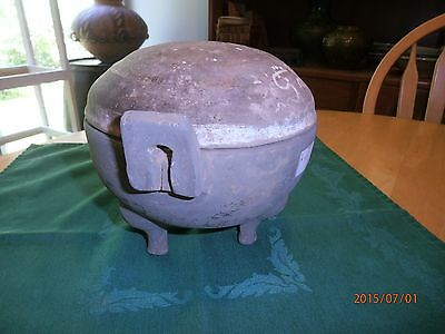 Han Dynasty Ding Jar w Cover 3 Leg (206 BC-220 AD) Antique China Chinese Vessel