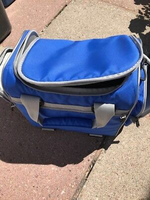 Large Blue Canvas Podiatry Chiropody Foot Health Nurse Medical Bag
