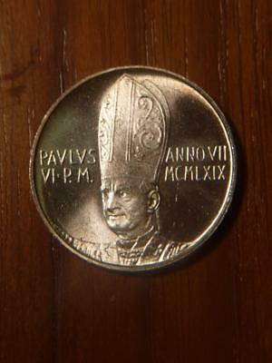 Vatican 1969 500 Lire, Nice Uncirculated Condition...SKU#12479