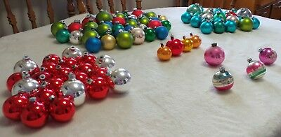 Vintage Lot of 93 Shiny Brite Rauch Made in USA Poland Christmas ornaments