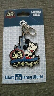 Walt disney world 45th anniversary lanyard medal