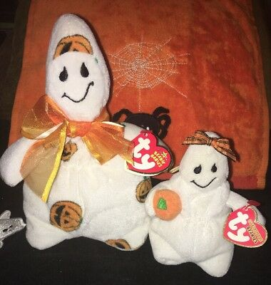 ty Halloween Beanie Babies Ghoulish And Ghoulianne Ghosts 2006