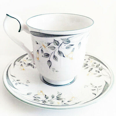 HAZY DAWN Royal Albert Demi Coffee Cup & Saucer made in England NEW NEVER USED