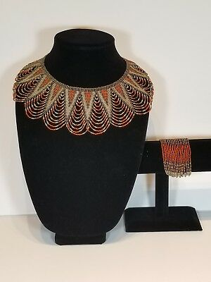 ZULU Traditional South African Beaded Necklace/ Maasai /Beaded necklace set.