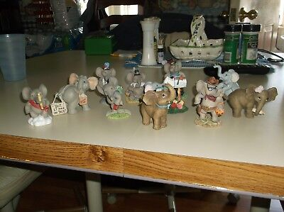 Lot of 11 Pals of The Month Hamilton Collection,Elephant Figurines