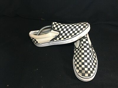9409d18621 VANS SLIP ON Checkerboard Off White Black Checkered Mens Size 12 ...