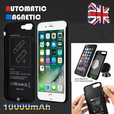 10000mAh Magnetic Battery Charger Charging Power Case For iPhone 7 8 Plus X Xs
