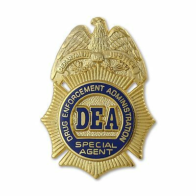 "DEA 1"" SPECIAL AGENT BADGE LAPEL PIN * U.S. Drug Enforcement   LOOK AT 2ND PHOTO"