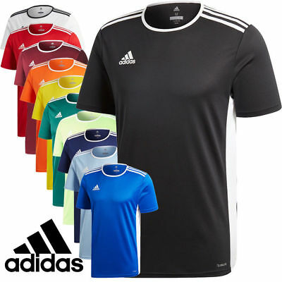 Adidas Entrada 18 short T-shirt Climalite Football, Gym tops Activewear Jersey