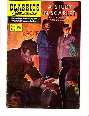 Classics Illustrated 110: Study in Scarlet (1953):Orig: FREE to combine: Good/VG