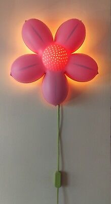 Ikea smila blomma pink flower wall lamp kids childrens baby nursery ikea smila blomma pink flower wall lamp kids childrens baby nursery night light aloadofball Images