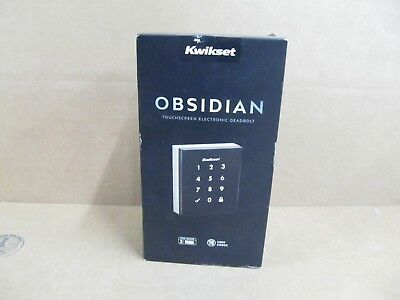 Kwikset Obsidian Keyless Touchscreen Electronic Deadbolt  Satin Nickel Open Box
