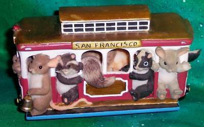 Retired Fitz And Floyd Charming Tails Musical San Francisco Trolley Car Figurine