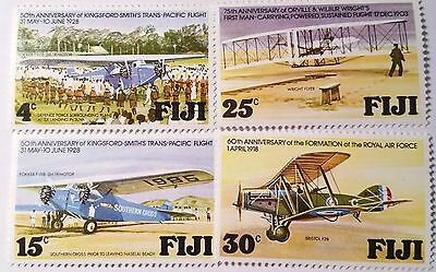 Fiji   Scott #385-388 Wright Brothers Aviation Mint Stamps ...worldwide Stamps