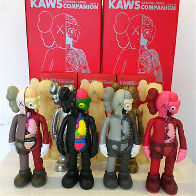 8 Inch KAWS BFF Half Dissected Companion Action FiguresToy Black with box