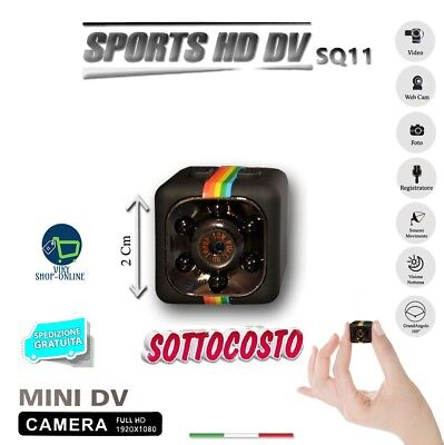 Sq11 Telecamera Sport Full Hd Mini Dv Spy Micro Camera Spia Nascosta