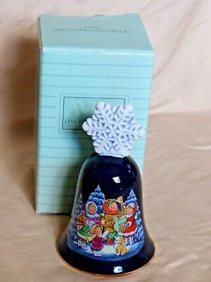 Vintage 1987 Avon Fine Collectibles Christmas Porcelain Bell w/ Box
