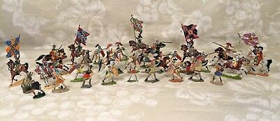 Assortment of German Painted Lead Flat Figures from Forbes Museum of Military Mi