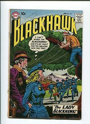 "Blackhawk 133 ""the Lady Blackhawk"" 1st Lady Blackhawk! Key! Glossy low grade 3.0"