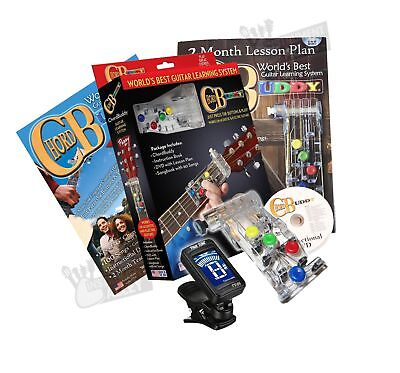 CHORD BUDDY GUITAR Learning System with Clip-on Chromatic Tuner ...