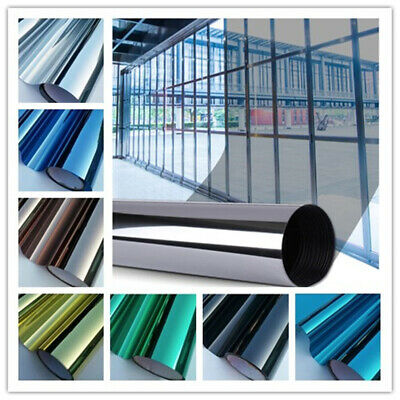 One Way Mirror Privacy Window Solar Stop Heat Film Reflection Sticker 60cm Wide