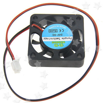 2pin 24V DC 40mm Cooling Fan For Hotend Extruder RepRap Mendel Prusa 3D Printer