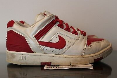 2004 Nike Air Force Ii Low 2 White University Red 12 Wmns 10 5 Mens